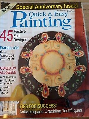 Quick & Easy Painting Magazine October 2008 Decorative Painting & Tole Patterns