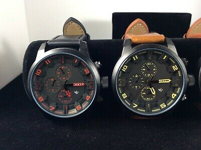 New Men's-CURREN-Analog Fashion Watch with date indicator-FAUX compilations