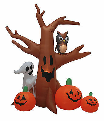 Halloween Air Blown Inflatable Yard Party Decoration Dead Tree Owl Ghost Pumpkin