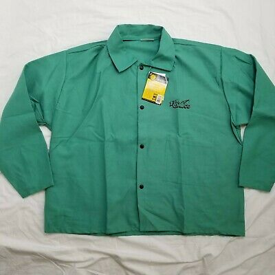 "NEW Revco Black Stallion F9-30C 9oz 30/"" Cotton FR Green Welding Jacket S-4XL"