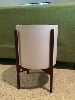 Mid Century Modern Planter Walnut Stand From Modernica Large
