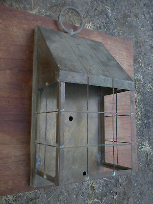 Vintage Architectural Brass Metal Entry Light Housing Fixture
