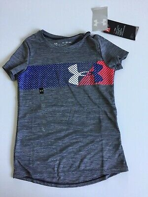 Under Armour Girls Gray Sz YXS 4 5 T-shirt NWT