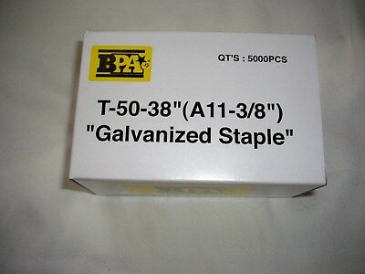"""Bulk 100,000 Bpa T-50- A11 - 3/8"""" Staples 20 Boxes By Building Prods Of America"""