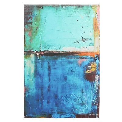 Abstract Modern Vintage Blue Canvas Wall Art Oil Printed Picture Home Room Decor