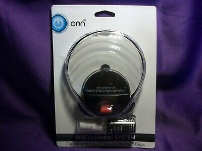 ONN RADIAL DISC CLEANING SYSTEM KIT for CD's, DVD's & BLU-RAY DISCS BRAND NEW