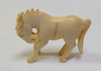 "Antique Chinese Hand Carved 1.25"" Miniature Horse Figurine Statue"