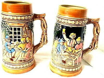 BEER STEINS Vintage & Collectable German Ceramic Made in Japan  NEW IN BOX RARE