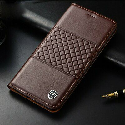Genuine Leather Magnetic Flip Wallet Card Stand Cover Case For iPhone 11 Pro Max