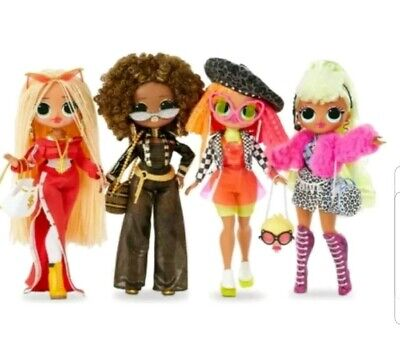 LOL Surprise OMG Fashion Doll Set of 4 Swag Lady Diva Royal Bee  & Neonlicious