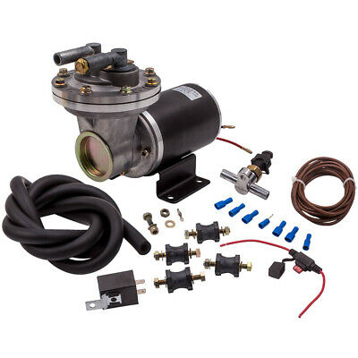 "Electrical Vacuum Pump Kit for Brake Booster 12 V 18"" to 22"" for GM Chevy Ford"