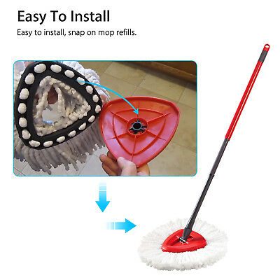 1PCS Replacement Head Microfiber Mopping Wring 360° Spin Refill Mop for O-Cedar