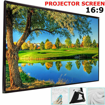 120'' Projector Screen Portable Foldable 16:9 HD Home 3D Cinema Theater Outdoor