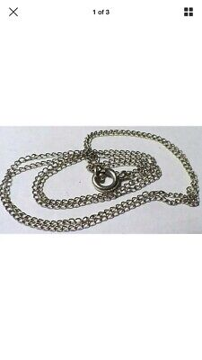 Beautiful Solid 14K White Gold Link Chain 15 Inches Long