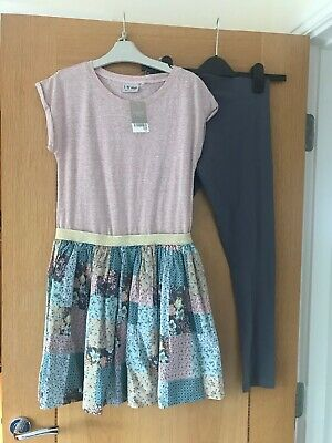 Next Girls Dress Outfit With Leggings From Next Age 12 Years BRAND NEW