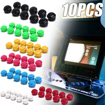 Multi Colour 10pcs 30mm Push Machine Buttons Replace Arcade Machine Game Parts