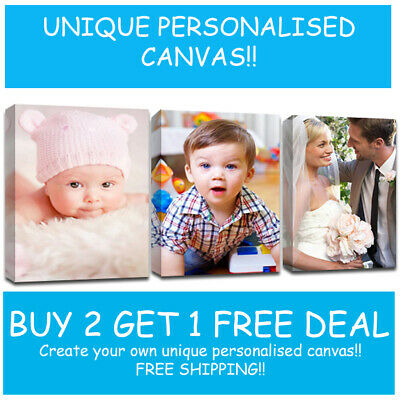 Personalised Canvas Framed Photo on 38mm deep canvas Print Your PHOTO/PICTURE