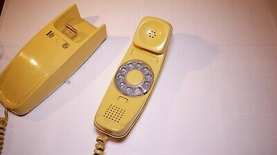 Western Electric Bell System Trimline Rotary Telephone - VINTAGE Yellow Color!