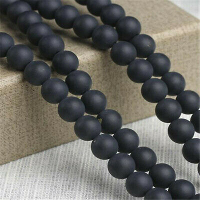 """6 mm frosted agate Loose bead Making Jewelry 1PCS 15"""" Wholesale Handmade Top"""