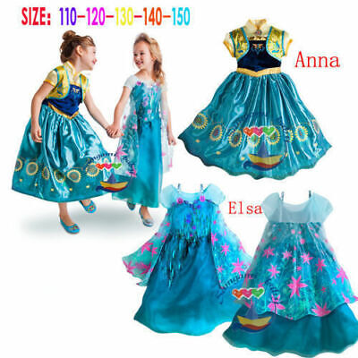 Frozen Elsa Costume Dress up Girls Frozen Elsa Anna Costume Party Birthday Dress