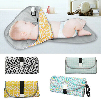 New 3 in 1 Baby Nappy Diaper Bag Changing Change Clutch Mat Foldable Pad Handbag