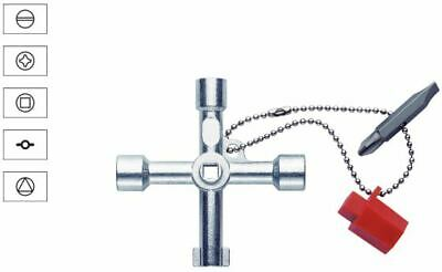 Klauke Electrical Cabinet Key with Chain + Adapter KL500