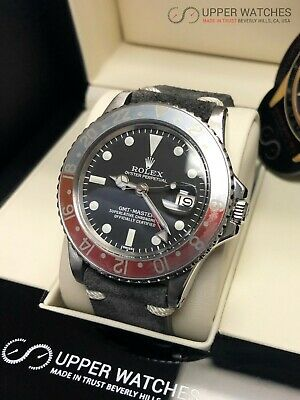 ROLEX GMT,MASTER 1675 Pepsi Stainless Steel Black Dial 1972