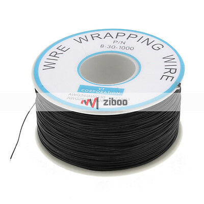 PCB Copper Core Jumper Wire Single Conductor Coil AWG 30 820.2 Ft 0.2 SQMM.