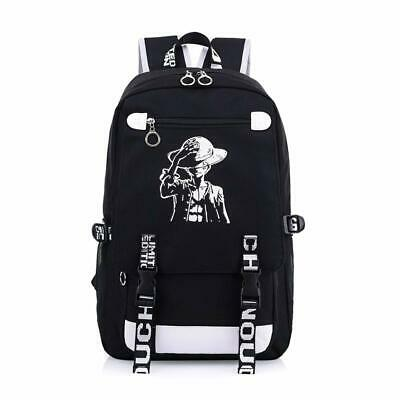 One Piece Backpack Black Xcoser Stampede Luffy Luminous Paint Oxford Anime Manga