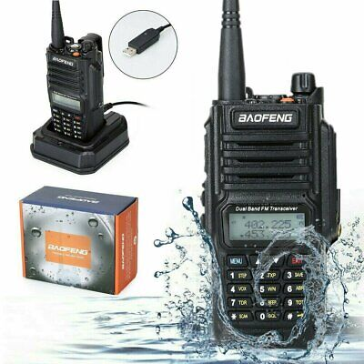 Baofeng IP67 Waterproof Walkie Talkie Dual Band Two Way FM Ham Radio = UV-9R
