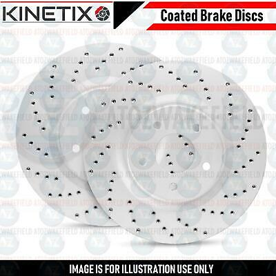 FOR JAGUAR XE 2.0 3.0 REAR CROSS DRILLED PERFORMANCE BRAKE DISCS PAIR 325mm