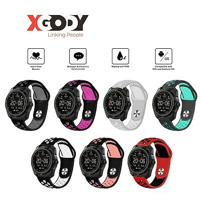 XGODY IP68 Smart Watch Heart Rate Fitness Tracker For iOS iPhone Android Gifts