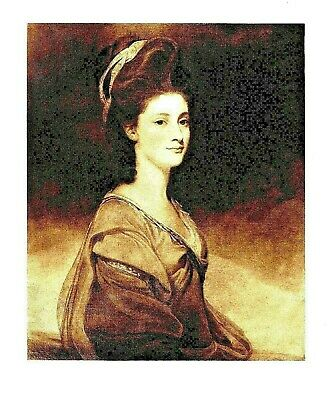 Miss Elizabeth Ramus - Tinted Lithograph after George Romney - c1890