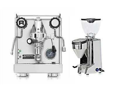 Rocket Appartamento Espresso Machine & Cappuccino Coffee Maker & Fausto Grinder