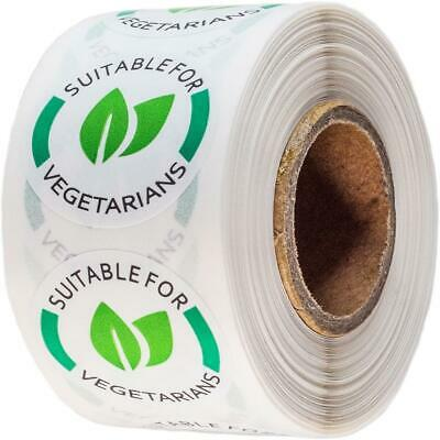 Mr-Label Catering Stickers - Suitable for Vegetarians 25mm - 500 Labels per Roll