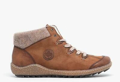 RIEKER LACE UP Ankle Boots High Top Shoes L5222 24 Flat