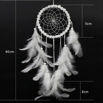 Handmade Feathers Dream Catcher with Flower Wall or Car Hanging Ornament Props