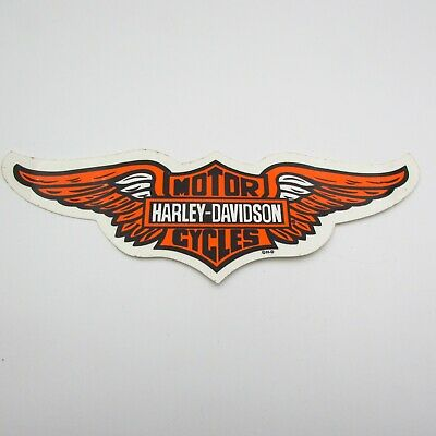 Vintage Harley Davidson Motorcycle Sticker Decal Authentic Genuine Bar & Shield