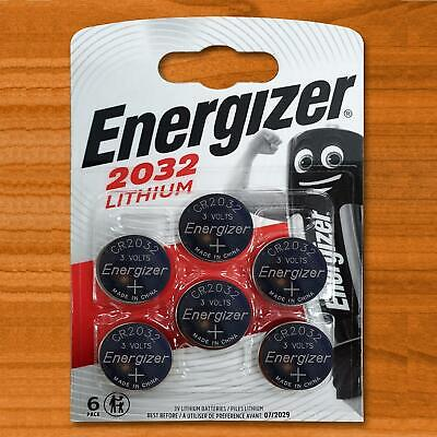 6 X Energizer CR2032 3V Lithium Button Coin Cell Battery DL2032 BR2032 SB-T15