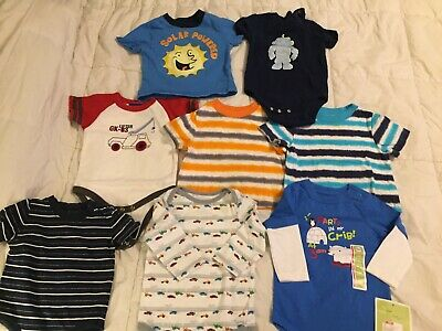 Lot Of 8 Baby Boy Shirts Circo Ginuine Kids Size 6 Months