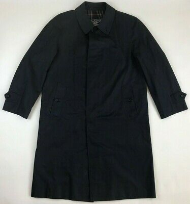 Navy Blue Burberry Trench Coat Mens Size 48 Reg - Cotton / Polyester Blend