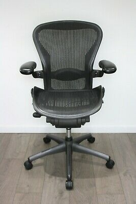 UK & EU Delivery   Herman Miller Aeron Chair   Fully Loaded   NEW Lumbar Support