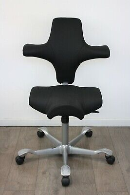 UK & EU DELIVERY   HAG Capisco 8106   Sit / Stand chair   Saddle Seat   Black