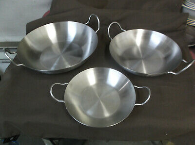 Stainless Steel Double Handled Pans