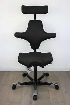 UK & EU DELIVERY   HAG Capisco 8107   Sit / Stand chair   Saddle Seat   Black