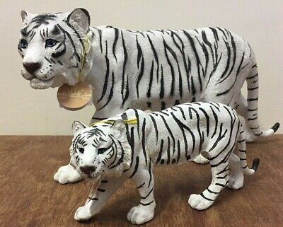 Prowling Snow Tiger Ornament Figurine by Leonardo - Small & Large White Tigers
