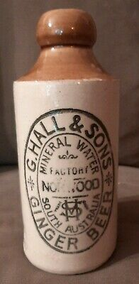 Antique GINGER BEER Bottle Very Rare G HALL & SONS