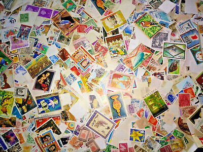 Worldwide 200++ pcs Randomly Picked Off paper Stamps Collection Lot