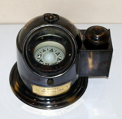 Nautical brass binnacle gimbal compass marine ships helmet oil lamp x mas gift