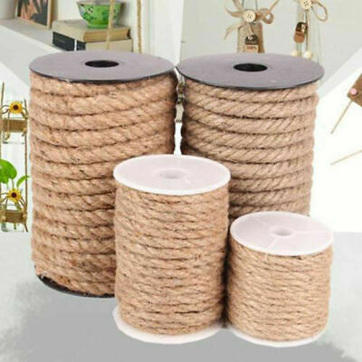 5M Natural Hemp Cord Twisted Jute Twine Rope DIY Handmade Craft Hang Tag Decor
